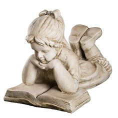Mädchen mit Buch #Gartenfigur #Skulptur
