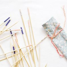 Make this easy pick-up sticks game, then sew a quick bag to keep them in!