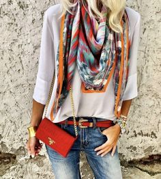 Accessoire is the key. Mode Outfits, Chic Outfits, Fashion Outfits, Spring Summer Fashion, Spring Outfits, Autumn Fashion, Summer Outfit, Look Fashion, Girl Fashion