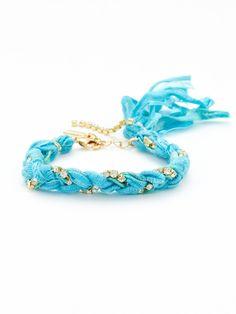 Braided Ribbon & Crystal Bracelet by Ettika Jewelry on Gilt.com