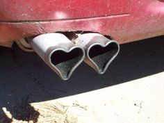 Heart shaped tail pipes!!
