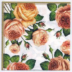 Decoupage Napkins   Sentimental Roses    Paper Napkins for Decoupage