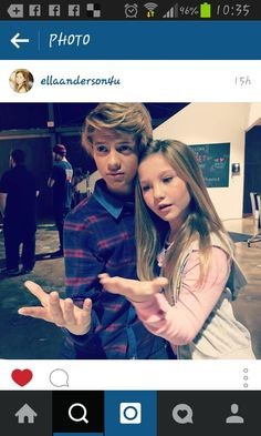 New photo of Ella Anderson with Jace Norman ;) They are cute
