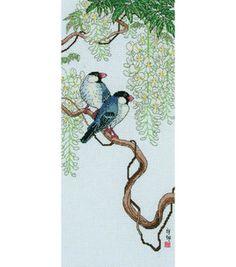 Maia Birds On Wisteria Counted Cross Stitch Kit & counted cross stitch kits at Joann.com