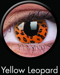 Yellow Leopard Contact Lenses from ColourVUE's CRAZY Series: Show your wild side with these Yellow Leopard Contact Lenses from ColorVUE! Need another style to go with a costume? Check out the rest of the Crazy line, which includes everything from animal eyes to special effects. Each pair of ultra-comfortable Hydrogel Yellow Leopard Contact Lenses lasts 12 months and can be worn for 8 hours at a time. Retail Price: $20.15 per pair