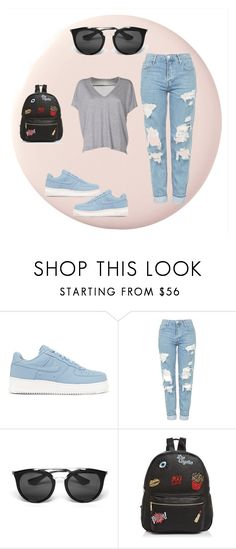 """Untitled #52"" by jk-jednacurica on Polyvore featuring NIKE, Topshop, Prada, Ollie & B and Acne Studios"