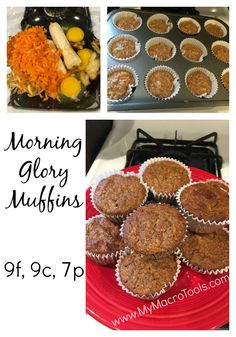 """Sweet mercy! I've made Morning Glory muffins like these before in my paleo life, but never worried about the macro makeup of them until recently, so I wanted to see if I could tweak them to make them macro-friendly AND awesome…and it worked! There have been plenty of """"Test Kitchen Fails"""" over these past few..."""