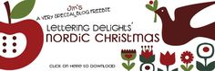 Under A Cherry Tree: Nordic Christmas: A Special Freebie from Lettering Delights