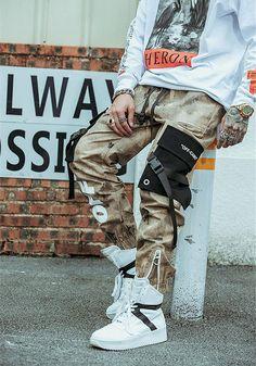 QXJ Men's Slim Fit Elastic Waist Velcro Cuff Streetwear Jogger Cargo Pants with Tactical Pockets Mode Camouflage, Camouflage Cargo Pants, Cargo Pants Men, Women Pants, Jogger Pants, Joggers, Pantalon Streetwear, Mode Streetwear, Streetwear Fashion