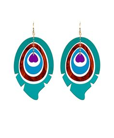 Peacock Feather Earrings (Ltd Ed (sale - She Put A Spell On You Peacock Earrings, Feather Earrings, Devine Design, Tatty Devine, Aw17, Acrylic Art, Jewelry Art, Archive, Handmade Jewelry