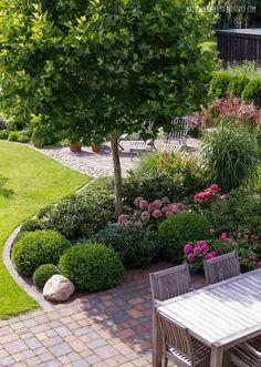 schwarze pflastersteine definieren die größe der terrasse | garten, Garten und erstellen