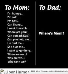 where's mom ?