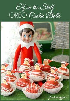 Elf on the Shelf OREO Cookie Balls   http://flouronmyface.com/2014/12/elf-on-the-shelf-oreo-cookie-balls.html