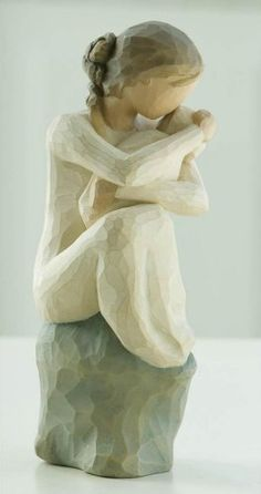 "$26.99-$28.00 Willow Tree Guardian Figurine by Susan Lordi. 6"" high. Resin. Gift boxed. Seated woman holding infant. ""Love and protect thee, forever""  Since 2000, Susan Lordi has been creating these figurative sculptures that speak in quiet ways of deep emotion and inspiration.  Artist Susan Lordi carves each original sculpture, then pieces are cast from her original carving in resin and individu ..."