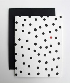 Dots and Heart Card