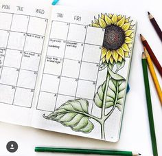 Monthly spread idea - My skills aren't on this level, by any means. But maybe I can use it for inspiration. Bullet Journal June, Bullet Journal Ideas Pages, Bullet Journal Spread, Bullet Journal Layout, Bullet Journal Inspiration, Book Journal, Bullet Journals, Bullet Art, Organization Bullet Journal
