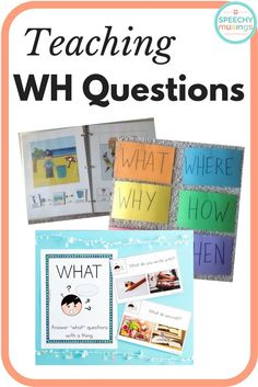 Tons of speech and language therapy activities for teaching and practicing WH questions. Great for students with autism. From Speechy Musings.