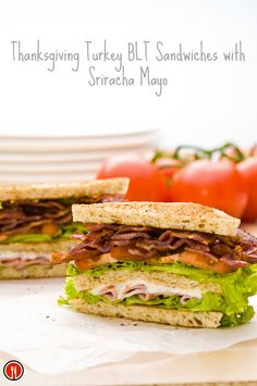 I like to make my friends delicious Turkey BLTs with Sriracha Mayo. It is a great way to use my leftover turkey. The sandwiches aren't too heavy, so there are no flashbacks of too much stuffing and pumpkin pie. http://www.thedailymeal.com/thanksgiving-turkey-blt-sandwiches-sriracha-mayo