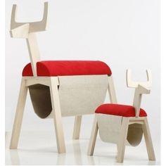 Is it a ride-on toy? Is it a chair? Is it a storage unit? It's Mini Loom, a fantastically versatile piece of furniture from Estonian design company Fellin Furniture.