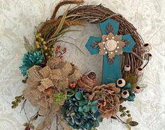 Beautiful wreath for Easter Wreath Crafts, Diy Wreath, Grapevine Wreath, Wreath Ideas, Easter Wreaths, Holiday Wreaths, Holiday Crafts, Wreaths For Front Door, Mesh Wreaths
