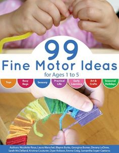 In 99 Fine Motor Ideas for Ages 1 to 5 you will find ideas for busy bags, practical life skills, early learning activities, arts and crafts plus more! Early Learning Activities, Science Experiments For Preschoolers, Motor Activities, Hands On Activities, Toddler Activities, Preschool Science, Letter Activities, Science Ideas, Toddler Fun