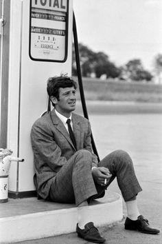 """Mr. Jean-Paul Belmondo in the 1965 Jean-Luc Godard film """"Pierrot Le Fou""""."""