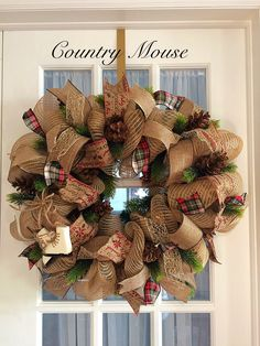 Christmas Wreaths, Burlap, Crafting, Country, Holiday Decor, Fall, Home Decor, Christmas Garlands, Autumn