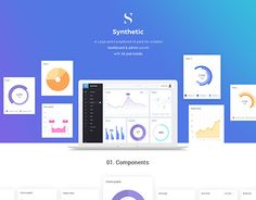 """Check out new work on my @Behance portfolio: """"Synthetic Admin Dashboard UI Kit"""" http://be.net/gallery/51942859/Synthetic-Admin-Dashboard-UI-Kit"""
