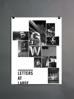 ... letters at large poster series on behance.
