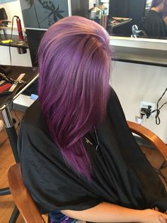 Lavender to violet color melt hair                                                                                                                                                                                 More