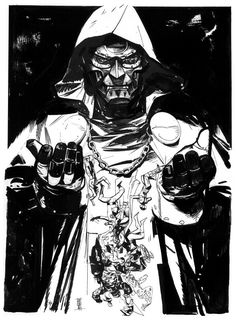 Alex Maleev Doom Page, in God Emperor Doom's Doctor Doom Comic Art Gallery Room Comic Book Villains, Marvel Villains, Comic Book Characters, Marvel Characters, Comic Character, Dr Doom Marvel, Marvel E Dc, Marvel Universe, Comic Book Artists