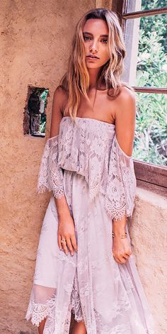 Trendy Suggestions: 15 Beach Wedding Guest Dresses ❤ Lace Off The Shoulder Beach  Wedding Guest