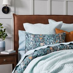Create a calming style in your bedroom with the Water Pebbles quilt cover. Inspired by a flowing natural riverbed, organic pebble shapes are designed in turquoise, terracotta and taupe tones and printed on textured cotton. This quilt cover is finished with a filled piping trim and printed reverse. Coordinate with European pillowcases for a complete look. #duvetcover #doonacover #patternedbedlinen #bedding