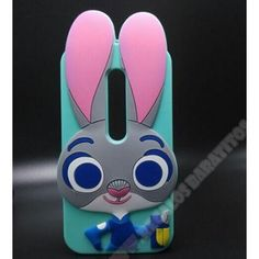 Nueva Carcasa divertida 3D silicona conejo para MOTO G 3ª GENERACIÓN                                                                                                                                                                                 Más