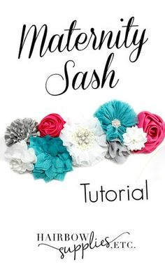 DIY Maternity Sash Tutorial for learning how to make a maternity sash! Adorable for a maternity photo shoot or baby shower!