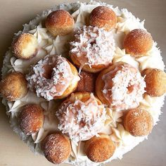 Coconut doughnut cake! #glazedgourmet #donuts #charleston