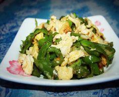 Green Capsicum Scrambled Eggs Green Capsicum, Scrambled Eggs, Cabbage, Vegetables, Food, Essen, Cabbages, Vegetable Recipes, Meals