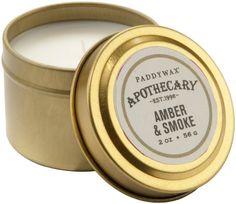 Amazon.com: Paddywax Boticario colección de velas de chapa de viajes, Amber / Humo: Hogar y Cocina