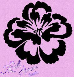 Free Stencil Templates for Walls | Flower Stencil 1 PSD by *ravenarcana on deviantART