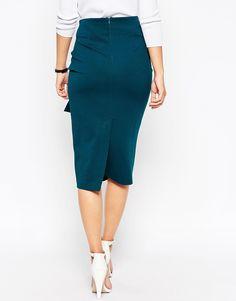 Image 2 ofASOS Premium Pencil Skirt with Origami Tie waist