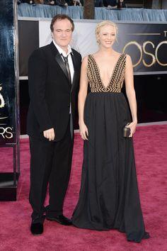 Tarantino con su novia Lianne Spiderbaby.