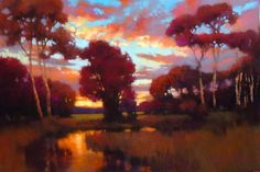"Evening Serenity by Teresa Saia Pastel ~ 24"" x 36"""