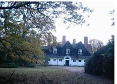 This house is designed by Edwin Lutyens and is called Homewood. It's basically what I had in mind for Winterfold, the house in A Place for Us. i love Lutyens houses, arts and crafts, all of that. I had this photo on my desk while i was writing it. (I've never been there, maybe it's next to a main road by the dump.)