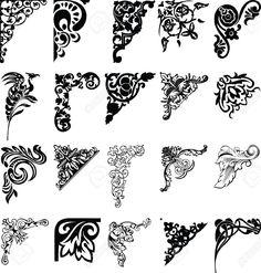 Set Of Twenty One Color Corners. Elements Of Design. Royalty Free ...