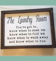 This sign made me laugh! Laundry Room Sign, Laundry Room Decor, Fixer Upper Wall Decor, Funny Laundry Sign, Know When To Fold 'Em Sign, Cottage Chic, Wood Sign, home decor, Farmhouse decor, Rustic decor, Rustic sign, Farmhouse sign #ad