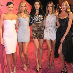 The VS Girls... Miranda Kerr, Erin Heatherton, Adrianna Lima, Alessandra Ambrosio, and Candice Swanepoel