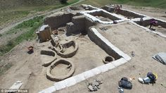 The excavated sites contained the remains of two Neolithic villages at Gadachrili Gora (pi...