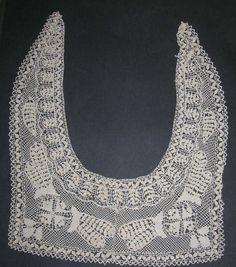 Antique Maltese Lace Collar Handmade Silk Bobbin от NotSewIdle