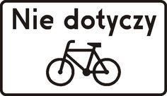 Znalezione obrazy dla zapytania nie dotyczy rowerów znak