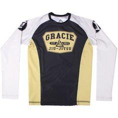 Gracie Jiu-Jitsu Kids Short Sleeve Rashguard 85% Polyester/15% Spandex Longsleeve Kids cut Long body Perfect for no-gi training or under gi Features Gracie Jiu-Jitsu logos Front and back graphics Sleeve hits